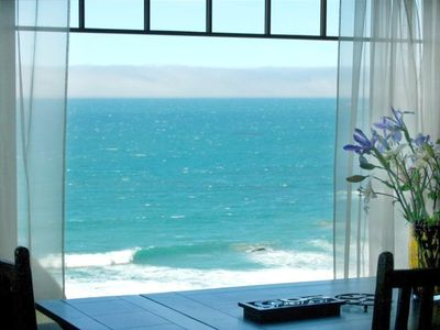 View from the dining room, see the whales and seals play