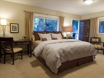 Old Town house rental - King guest room; quality linens and mattress, TV, DVD