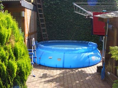 Pool with a climb to the 'treehouse'