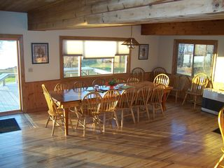 North Hero lodge photo - 14 foot dinning table and plenty of seating