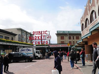 Seattle's Pike Place Market is only a few miles away