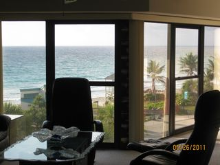 Deerfield Beach condo photo - View of Beach from Living Room Area