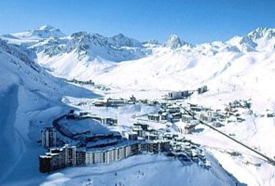 Tignes Le Lavachet from the air