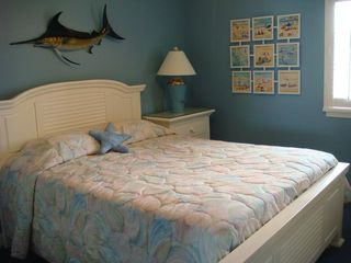Surfside Beach condo photo - Second bedroom with queen size bed and fun beach theme decor