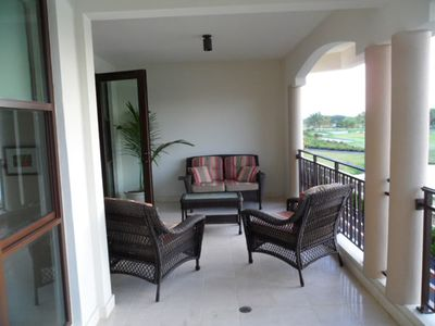 Rio Grande condo rental - Balcony with view at the hole # 13