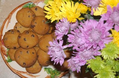 Homemade Cookies and Fresh Flowers