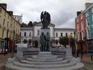 Cork house photo - Lusitania Momument in downtown Cobh at bottom of street