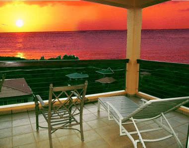 Enjoy the sunset from your balcony