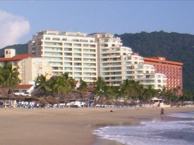 Ixtapa condo rental - View from beach