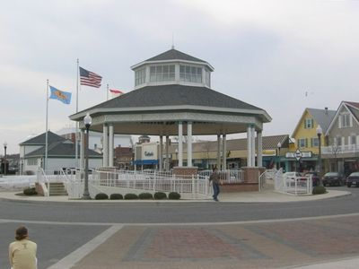 Take advantage of the free entertainment in the town gazebo