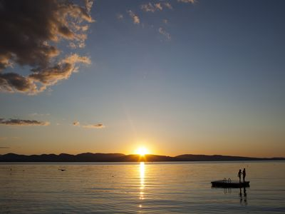 Charlotte's Beach, Lake Champlain, Looking Across to the Adirondack Mountains