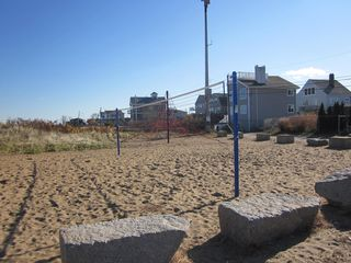 Plum Island house photo - Plublic Volley Ball next to Play Ground