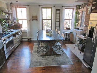Custom rustic kitchen with 36' gas range