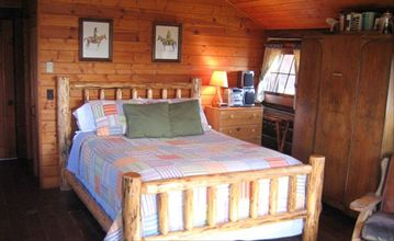 STUDIO WITH LOG QUEEN SIZE BED