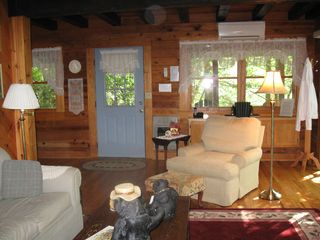 Maggie Valley cabin photo - Read a book or watch tv in the oversized comfy chair