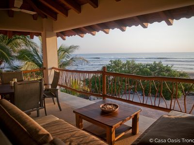 The view from the living/dining area. Casa Oasis Troncones beach vacation rental