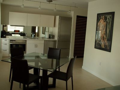 Modern contemporary kitchen and dining area