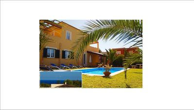 Large pool villa with a terrace view of the sea, WIFI, BBQ, close to beach and CITY - Villa  'Carolina'
