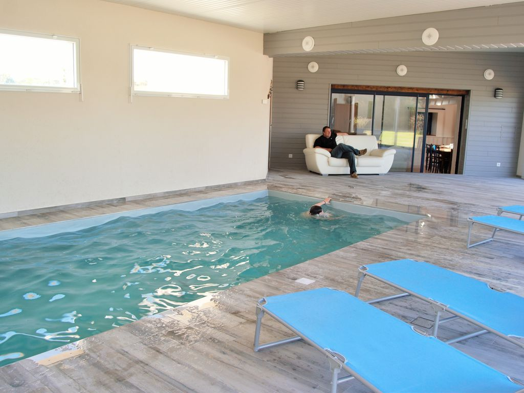 Ty Vran Indoor Swimming Pool 100 Meters From The Beach