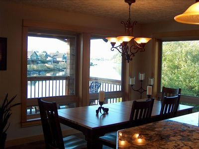 Dining room with river view.