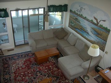 Spacious Living Room with Plenty of Comfortable Seating
