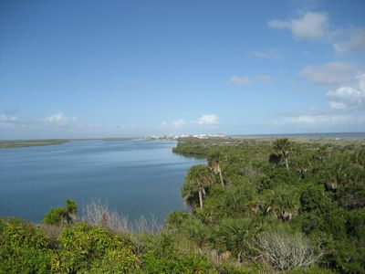 View from Turtle Mound in Canaveral National Seashore, just minutes away.