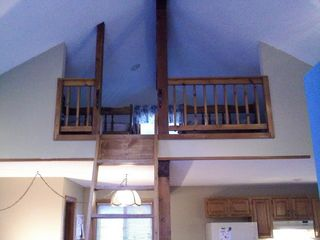 Madison chalet photo - .Loft, that has 2 beds. Charming