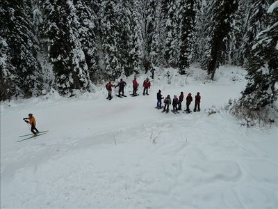 Silver Star Mountain house rental - Snowshoe trail system is just below the ski trail. Several marked trails here