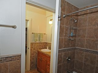 Taos Ski Valley house photo - Loft bath: separate rooms for shower/toilet and sink
