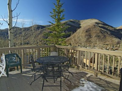 private deck overlooking Vail Valley