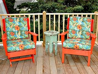 Owls Head apartment photo - Large Deck - Seating Area