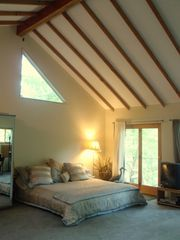 North Stonington house photo - 500sq.ft. Master King Suite w/ balcony, cathedral ceiling,XL mirrored wardrobe