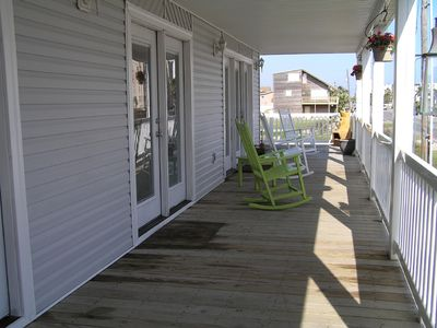 South Padre Island house rental - Shaded Front Balcony Faces Ocean