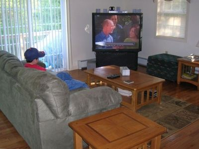 Big Screen TV with DVD and Movies