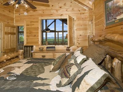 1st King Master Bedroom with Mountain Skyview