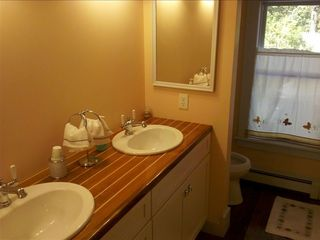 Master bath with direct access to main floor