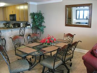 Orange Beach condo photo - Dining room includes table for 6 plus bar seating