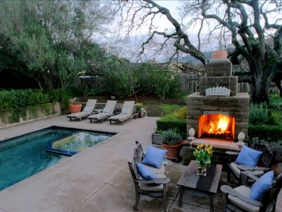 Carmel Valley at dusk.  Outdoor living at it's fnest.