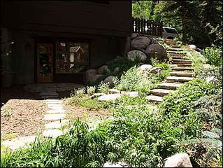 Vail townhome photo - Summer Master Entrance Lanscaped Path