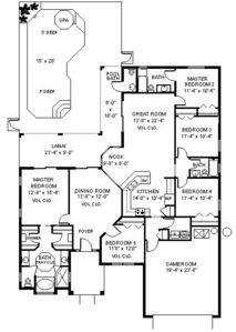 Spacious open single story floor plan-5 bdrms-3.5 bths- 2 King Master En-Suites