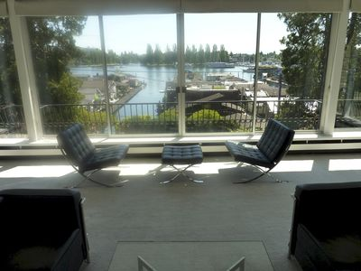 View of Portage Bay from the living room.