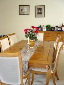 Dining Room which is large and can accommodate your visitors