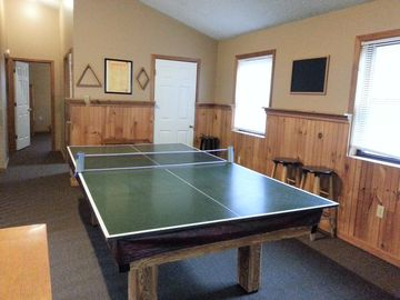 loft with pin pong and pool table