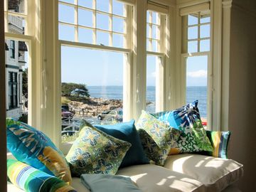 "Pacific Grove house rental - Welcome to ""The Yellow House""! Imagine sitting here gazing out at the bright blue sea and relaxing! This stunning and beautifully remodeled vintage Victorian is almost oceanfront."