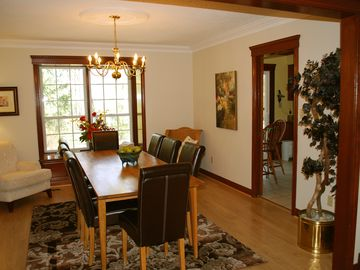 Separate Dining Room overlooking Living Room