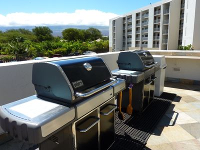 Brand new gas BBQ's with ocean and mountain views.