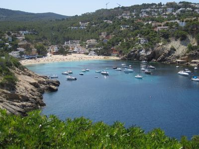 The lovely cove/beach of Cala Vadella