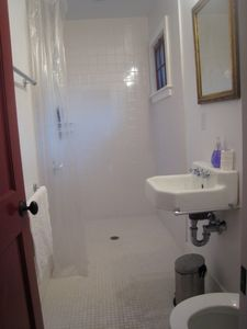 First floor bathroom, walk in shower