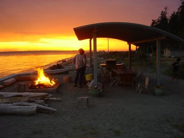Savor the sunsets & dig your toes into the sand at the beach shelter and firepit