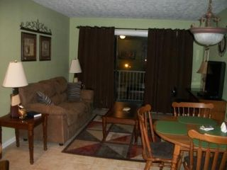 Blue Water Resort condo photo - Living Room With flat Screen TV & Cable